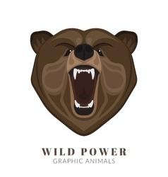 Screaming bear vector image
