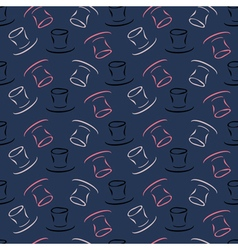Seamless pattern with cylinder hat vector image vector image