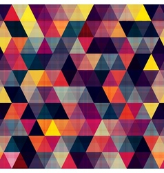 seamless triangle pattern texture vector image vector image