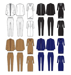 Set of womens clothes vector