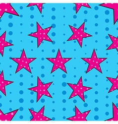Stars in pop art style seamless pattern vector image