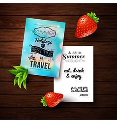 Summer holidays poster with blurry effect on a vector