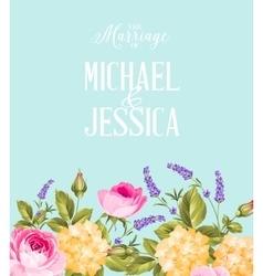 The wedding background vector