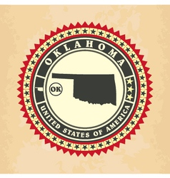 Vintage label-sticker cards of Oklahoma vector image