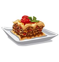 italian baked lasagna vector image