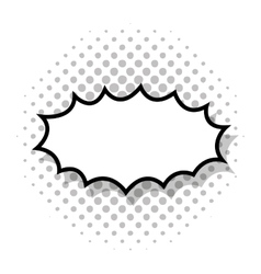 splash bubble comic isolated icon vector image