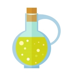 Bottle with Olive Oil in Flat Design vector image