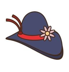 Female hat elegant isolated icon vector