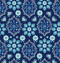 Navy bandana seamless background vector