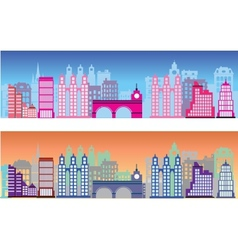 Colored city vector