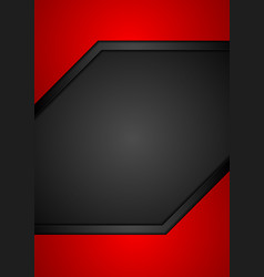 abstract corporate red black flyer design vector image