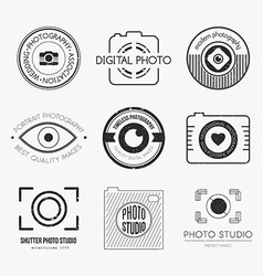 Photography logos vector