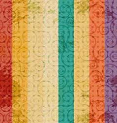 vintage color line seamless vector image
