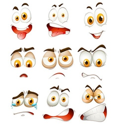 Many type of facial expressions vector