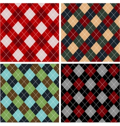 set of plaid patterns - cottons vector image