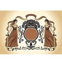 heraldry crest vector image