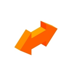 Two way arrow isometric 3d icon vector