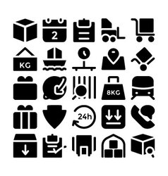 Logistics delivery icons 5 vector