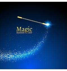 Magic wand background miracle magician vector