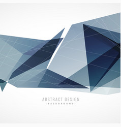 Abstract geometric background in blue shade vector