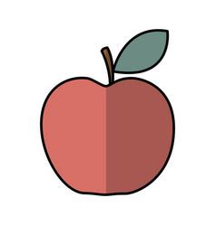 apple fresh fruit icon vector image vector image