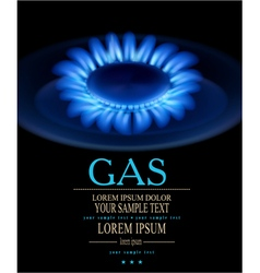 background with blue burning gas gas stove vector image vector image