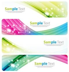 Banner modern wave design vector image