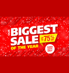 biggest sale of the year banner vector image