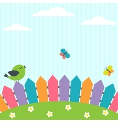 Bird and butterflies vector image vector image