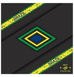 Brazil abstract background vector image