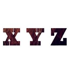 English textured alphabet vector image