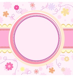 Floral kid background vector