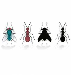 fly and ant vector image vector image