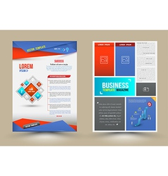 Flyer brochure design templates vector