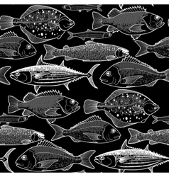 Graphic fish pattern vector image
