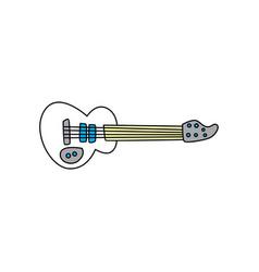 Guitar music instrument doodle sketch cartoon vector