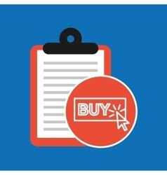 Hand holding shop online buy design vector