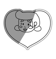 Heart grandmother elder head vector