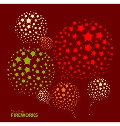 Holiday New Year firework vector image