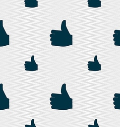 Like thumb up icon sign seamless pattern with vector