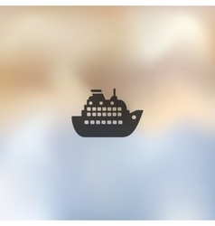 Liner icon on blurred background vector