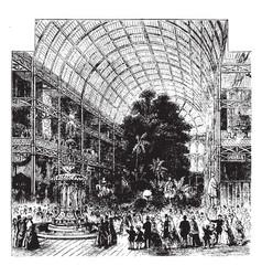 London exhibition vintage vector