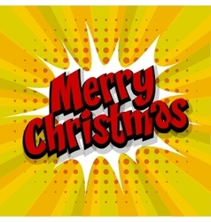 Merry Christmas yellow background vector image