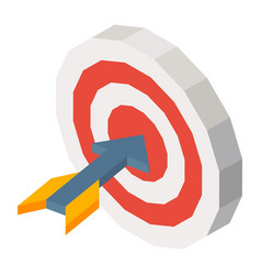 missile in dartboard three dimensional vector image vector image