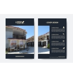 Modern templates for brochure leaflet vector
