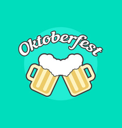Oktoberfest icon with toby jugs vector