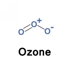 Ozone molecule structure vector