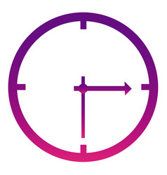 Purple wall clock icon vector