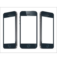 Realistic blue mobile phones image vector image vector image