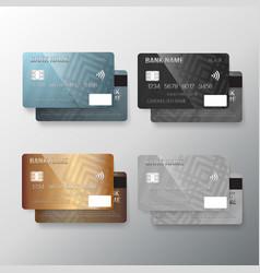 Realistic credit card set vector